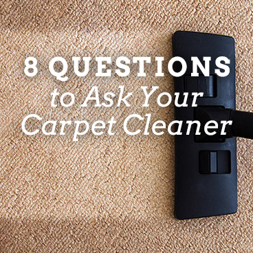 Questions to Ask Carpet Cleaner